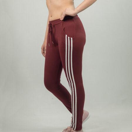 Lines-maroon-White-jogger-sandshark-ladies